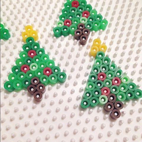 Christmas trees hama beads by  kolossaltpyssligt