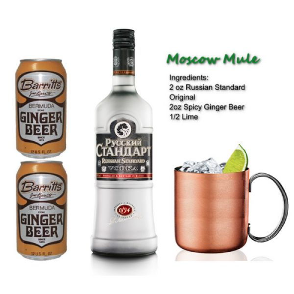 ... kick to your vodka with the addition of ginger beer. spiritedgifts.com