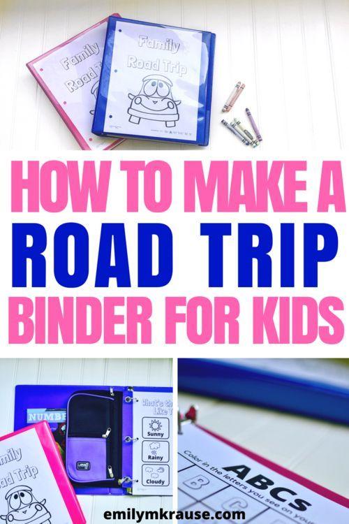 cómo hacer una carpeta de viaje por carretera para niños y mantenerlos entretenidos con actividades divertidas …