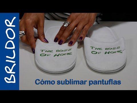 Cómo sublimar pantuflas - YouTube