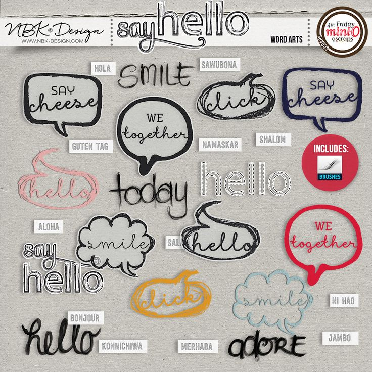 Say Hello {Word Arts}</strong>by NBK-Design
