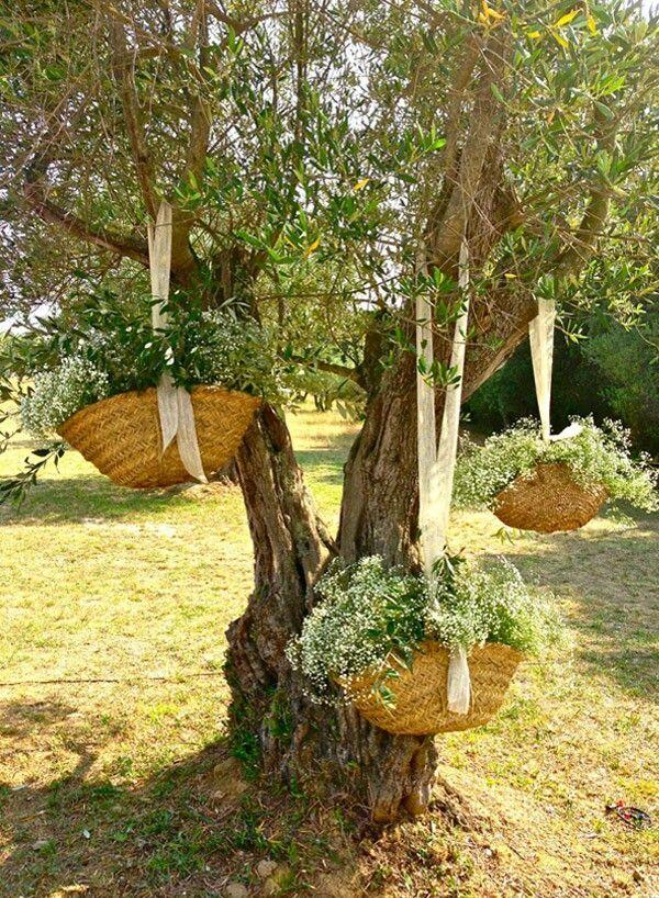 Original decoración para una boda campestre
