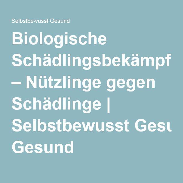 Biologische Schädlingsbekämpfung – Nützlinge gegen Schädlinge | Selbstbewusst Gesund
