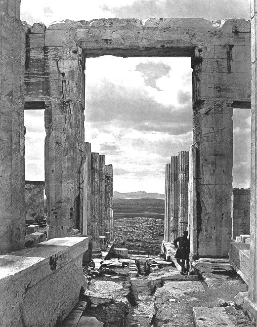 View from the Propylaea to the west Acropolis of  Athens, 1890