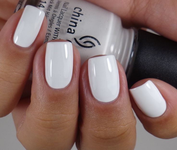 One of my favorite whites: China Glaze, White on White. Generally is opaque in three coats.