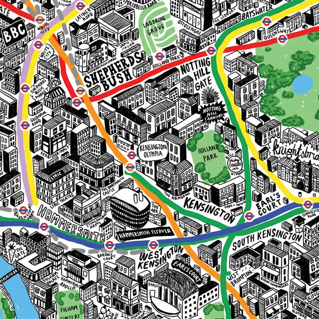 Fancy - Hand-Drawn Map of London