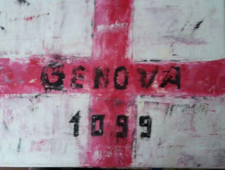 Autore. Nicola soriani  Titolo. Genova 1099 Anno. 2015 Tecnica. Olio su tela
