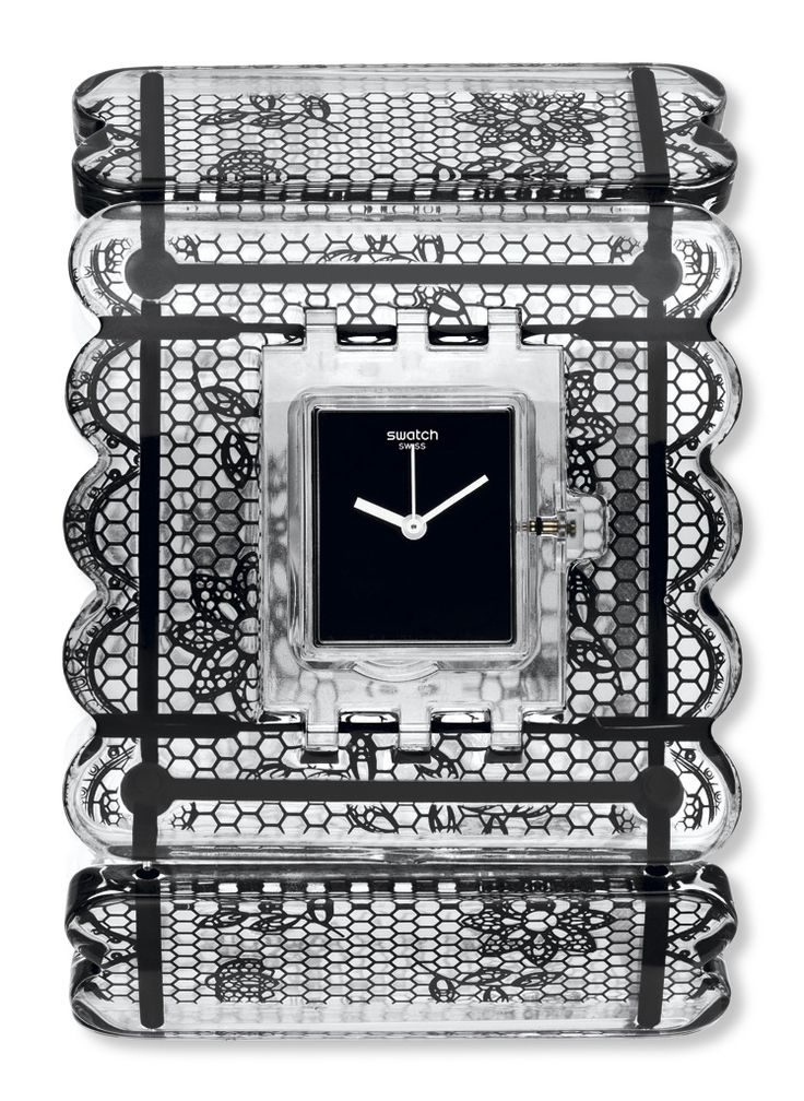 relojes swatch square reloj night lace