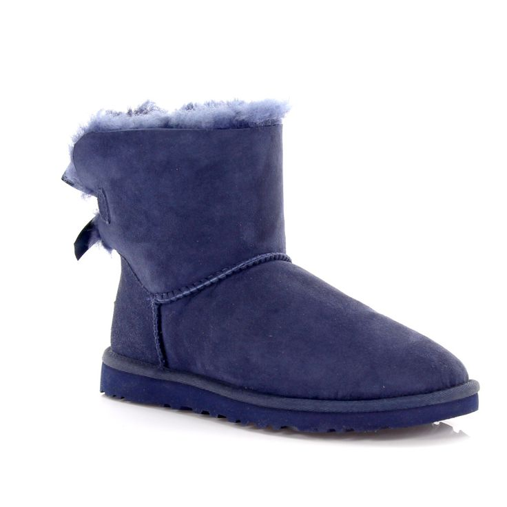 UGG Stiefeletten Boot Mini Bailey Bow Veloursleder blau