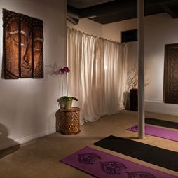 Asian inspired yoga room. Can be part of the gym.