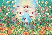 Kleurrijk behang | Zook | dit kleurrijke behang van Catalina Estrada op vinyl is een ware eye-catcher. Een prachtige gekleurde boom met bloemen.