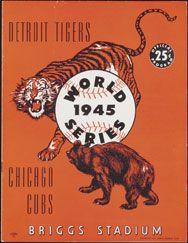 1945 World Series Program, Detroit Tigers Version