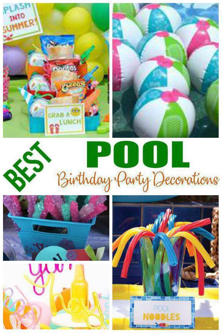 Pool Birthday Party Decorations Pool Birthday Party Pool Birthday Pool Party Centerpieces
