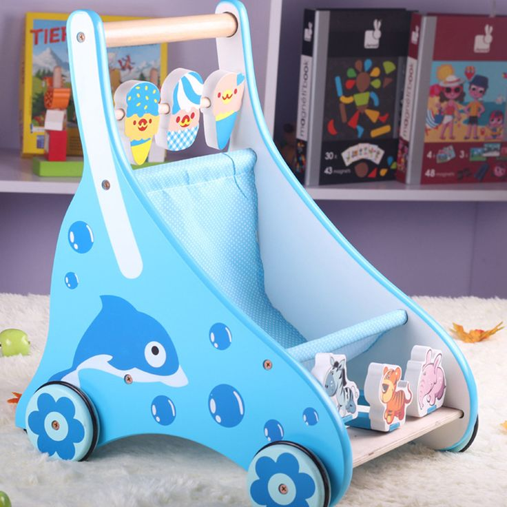 2017 Real Bicicleta Infantil Infant Ride On Toys Puzzle Baby Toddler Children Four Wheel Hand Adjustable Wooden Push Walker Toy