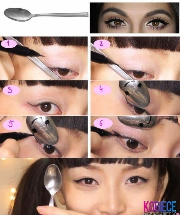Use+a+spoon+to+get+the+perfect+wing+shape+for+your+eyeliner.jpg 625×747 pixels