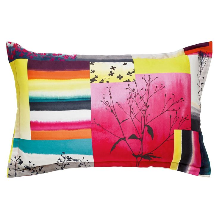 Watercolour Patchwork is a gorgeous multi-coloured patchwork design in rich shades of magenta, kingfisher and tangerine.