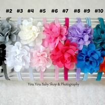 *Best fit Newborn - 2 years old *Appx 5 cm Flower size *From daily wear or in any special occasion like birthdays, weddings, family portrait... *From smoke free, pet free environment. *Special* Enjoy purchase 2nd hairband for FREE shipping.  **IMPORTANT** Please do not leave your little one...