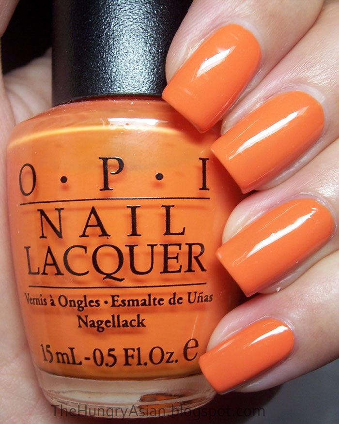 Opi Osaka To Me Orange And Tiger Stripes The Hungry Asian Polished Nails In 2019 Orange
