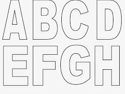 Image result for moldes de letras do alfabeto
