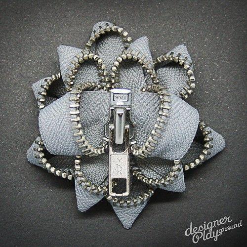 zipper brooch!