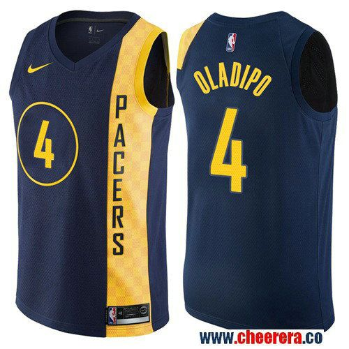 3fa019a62 Men s Nike Pacers  4 Victor Oladipo Navy Blue NBA Swingman City Edition  Jersey