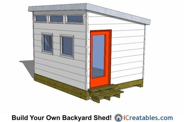 10x12 studio shed with door on end 10x12 shed plans for Tiny house floor plans 10x12