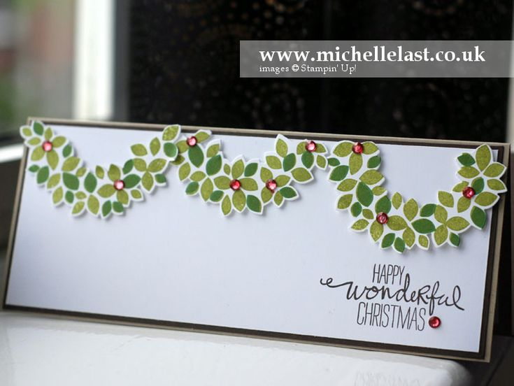 Handmade Wondrous Wreath Stampin' Up! Christmas Card - Stampin' Up! Demonstrator Michelle Last
