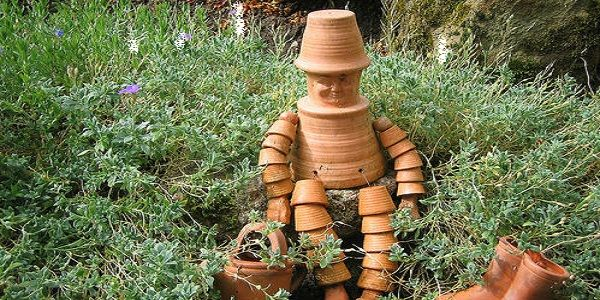 Creative Backyard Ideas for Summer with DIY Flower Pot Person