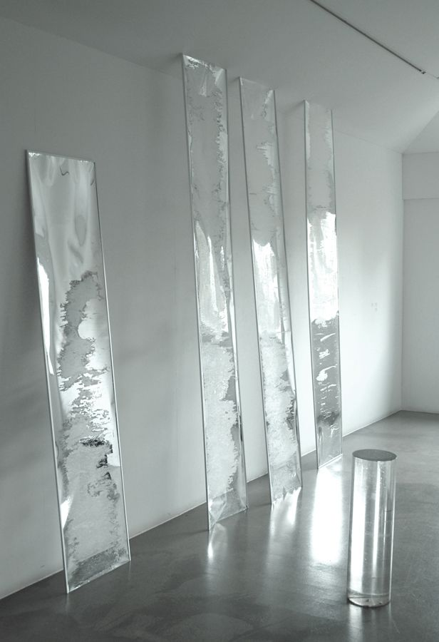 Untitled (2011) mylar, aluminium and acrylic tube by Adam Thompson