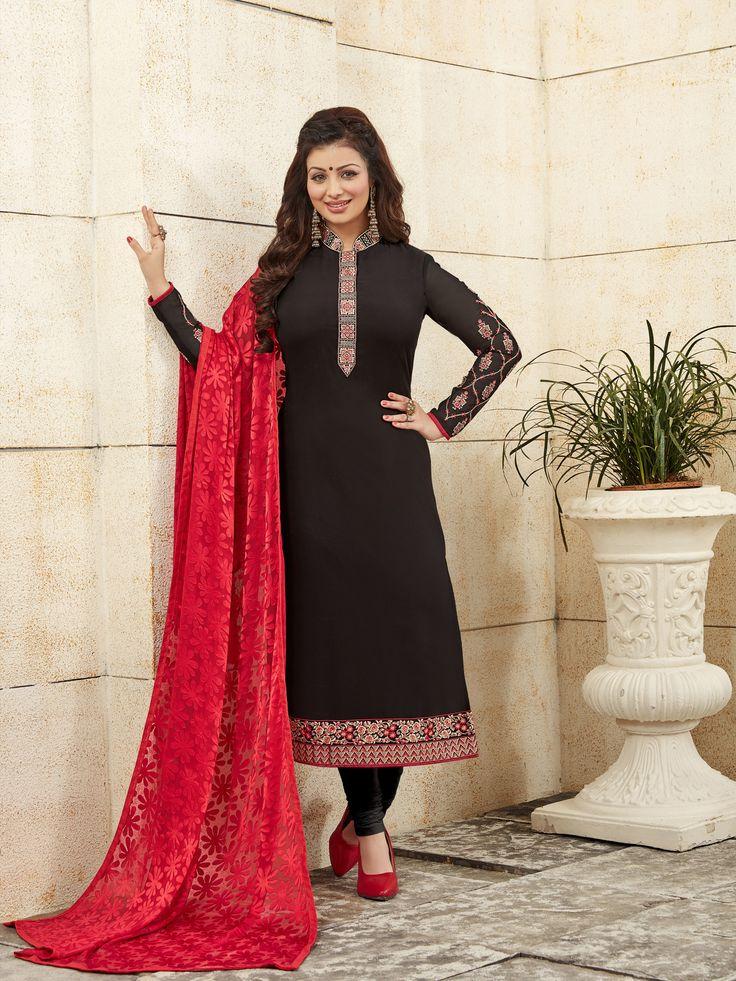 Black Georgette Salwar Suit.