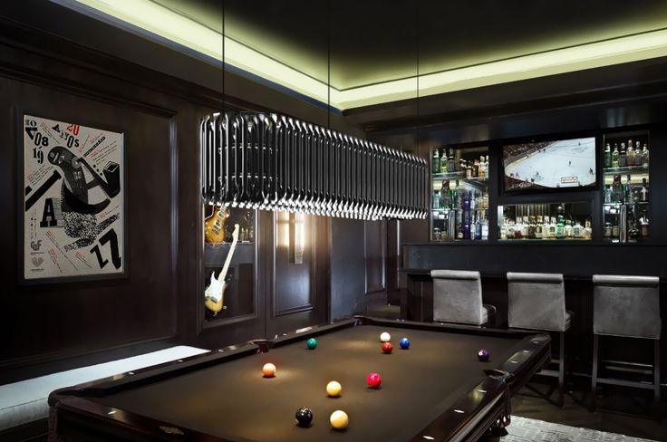 matheny suspension light fixture chandelier brass tubes stilnovo pool snooker bar e billiard ceiling lamp