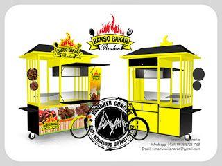 Desain Logo | Logo Kuliner |  Desain Gerobak | Jasa Desain dan Produksi Gerobak | Branding: Desain Gerobak Dorong Bakso Bakar Raden