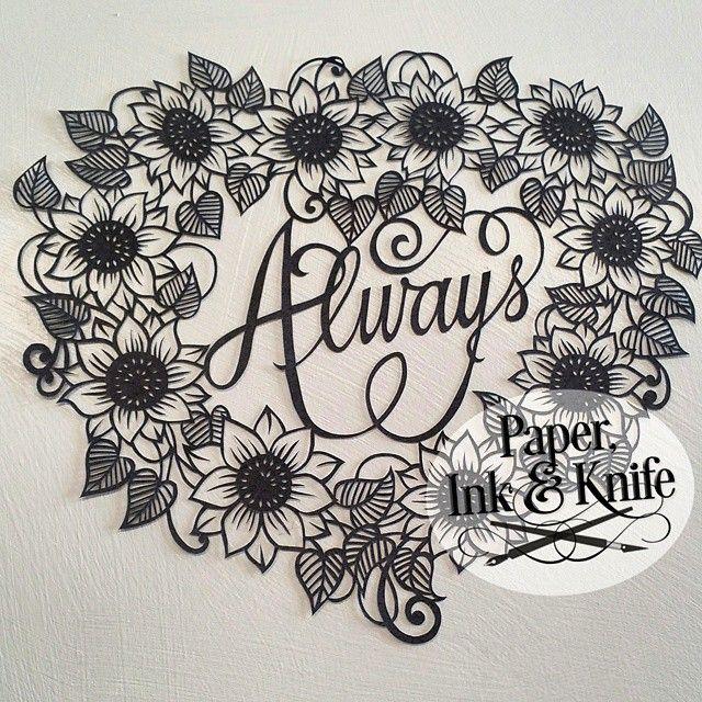 sunflower papercut art google search papercut artwork