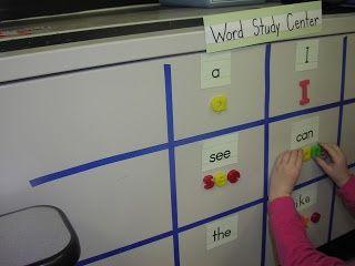 Keen On Kindergarten: literacy centers