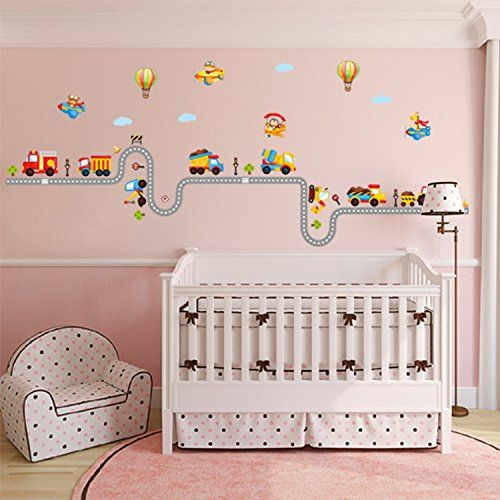 BY Decorative Peel Vinyl Wall Sticker Kids Baby Rooms Nursery Removable  Decals Happy Train    Part 92