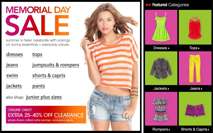 memorial day sale outlet mall