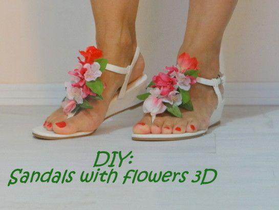 DIY: 3D Flowers sandals