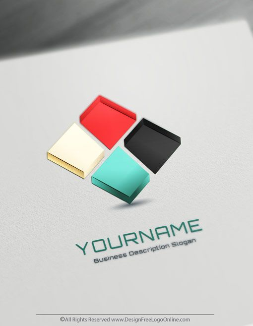 Design your own 3D logo ideas instantly using 3D Cube Logo