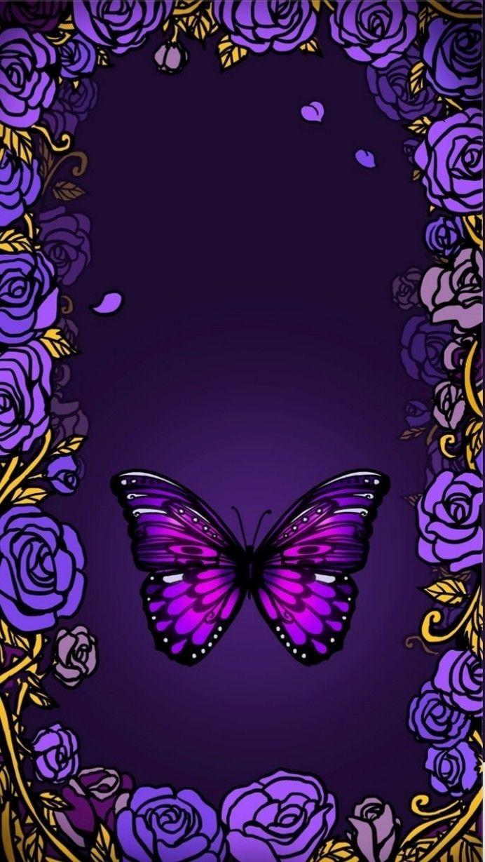 Обои на телефон красивые бабочки на темном фоне вертикально
