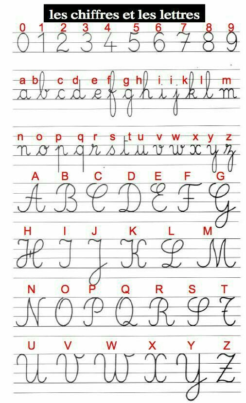 French handwriting