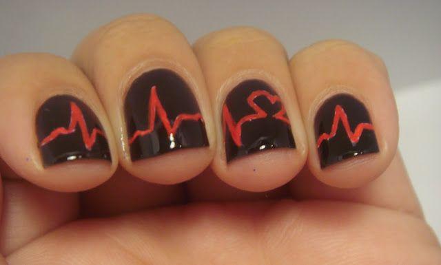 Heart Beat Nails