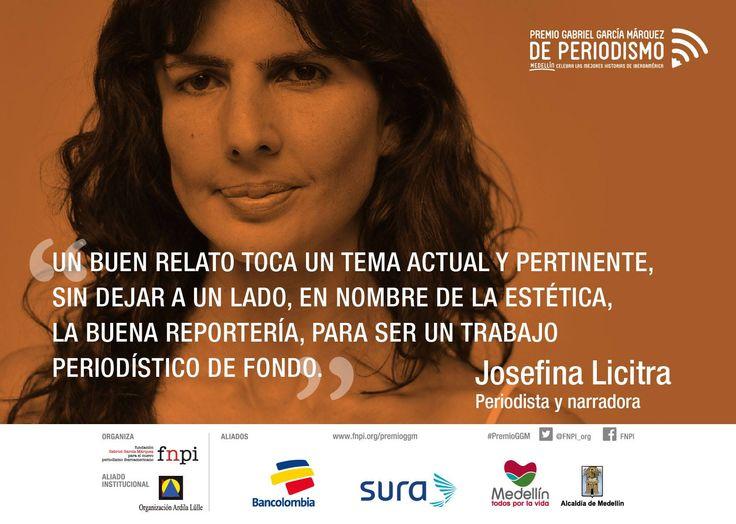 Reflexión de Josefina Licitra durante la maratón de la categoría Texto que se realizó en la primera jornada del #PremioGGM. http://www.fnpi.org/premioggm/