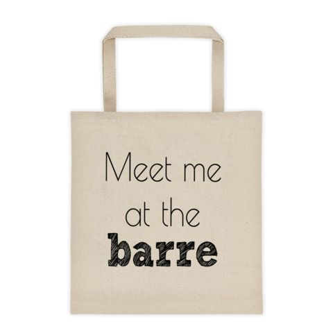 This Meet me at the barre tote bag is great for carrying all of your barre products from home to the studio. Use code PINTEREST to get 10% off