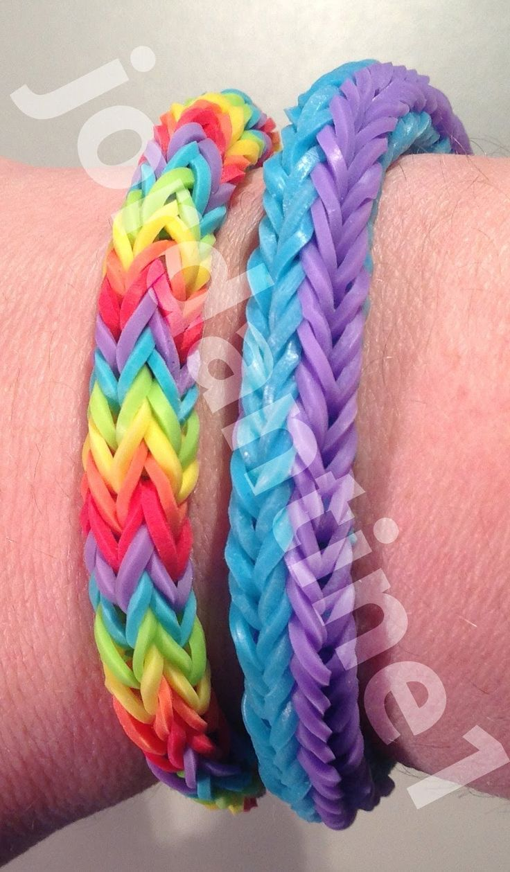 Double Cross Fishtail Bracelet - Updated Version - Rainbow Loom, Wonder Loom, Crazy Loom, Bandaloom