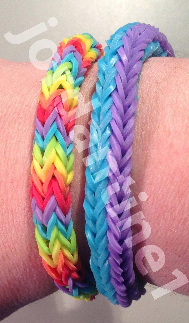Double Cross Fishtail Bracelet - Updated Version - Rainbow Loom, Wonder Loom, Crazy Loom, Bandaloom