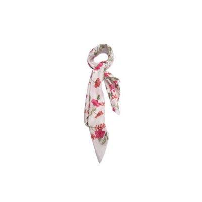 Lenço Mini Jardim Vermelho #lenços #lenço #scarf #scarfs