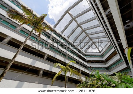 U-shaped building- this is an example of U-shape base because of the open area or space in the building that is forming a U in shape.