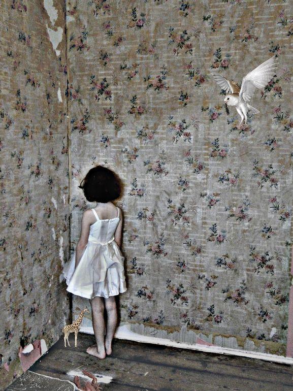 "Saatchi Online Artist: Alexandra Gallagher; Digital Collage, 2012, New Media Art ""Owl"""
