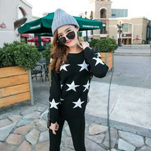 2016 Pullovers Men's Women O-neck Long Sleeve Sweaters and Pullovers Matching Star Couple Christmas Sweaters(China (Mainland))