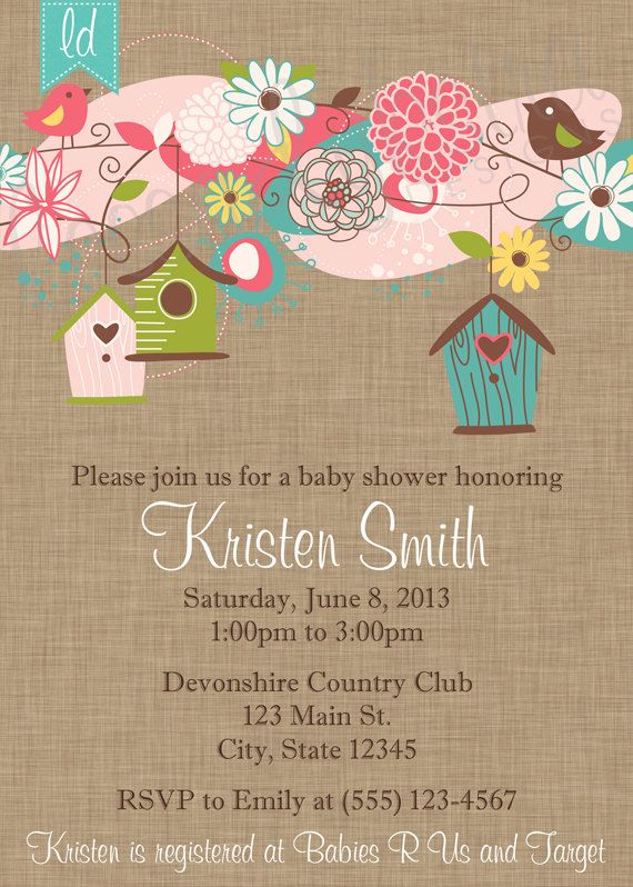 17 best tamars brita invention images on pinterest shower bird houses invitation on linen kraft paper birthday invitation baby shower invitation bridal filmwisefo Image collections